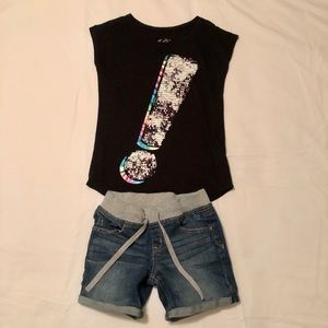 Justice shorts and top size Girls 10